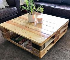 For the TV launch, this idea of creating a classic pallet coffee table is amazing. It is covered with glossy paint and the shine is adding grace to the table. There is storage space under the surface of the repurposed wood pallet to place small items like TV remote controller.