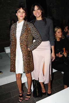 London Fashion Week Spring 2014: Paul Smith Front Row - Alexa Chung and Daisy Lowe