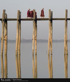 Walk and Talk © Wayne Pearson This is a very unusual and famous bridge in Myanmar, it travels for about a kilometre and has no guard rails, and can be very dangerous.