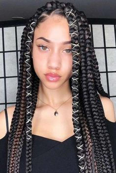 30 Classy Styling And Wearing Ideas For Crochet Braids - box braids hairstyles - Trending Hairstyles, Girl Hairstyles, Braided Hairstyles, Black Hairstyles, Big Box Braids Hairstyles, Wedge Hairstyles, Hairstyles Pictures, Celebrity Hairstyles, Blonde Box Braids