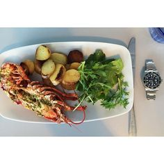 Posh nosh in Aberystwyth seafront and a rather tasty Rolex too! ⌚️