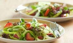 Summer Salad with Avocado Orange Dressing