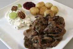 Dyregryde med champignon, billede 4 Beef, Moose, Mushroom, Meat, Elk, Ox, Steaks, Steak