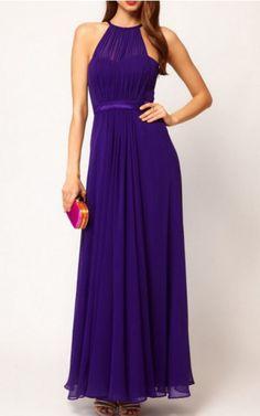 A-line Jewel Ankle-length Chiffon Empire Formal Dresses gt3086