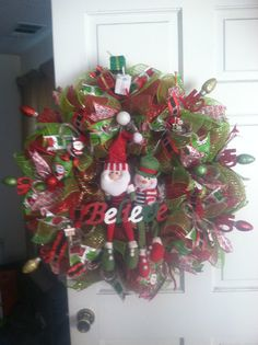 """""""Believe"""" Wreath made for a co-worker's grandkids"""