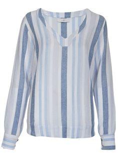 ALÓR - Blusa azul listrada. 6