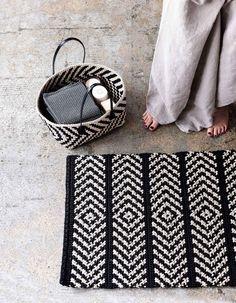 Virkattu matto ja pikkukori skandityyliin | Meillä kotona
