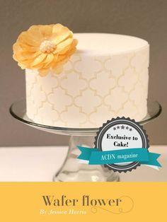 Moroccan Cake + A Wafer Paper Flower Tutorial - Jessica Harris Cake Design