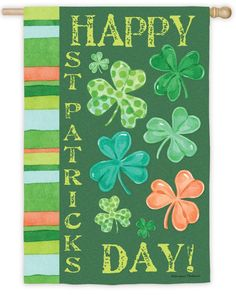 IAmEricas Flags - Happy St. Pat's Shamrock Suede Reflections House Flag, $24.00 (http://www.iamericasflags.com/happy-st-pats-shamrock-suede-reflections-house-flag/)