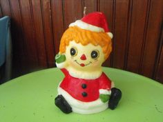 Vintage Wax Christmas Raggedy Ann Candle by peacenluv72 on Etsy, $14.50