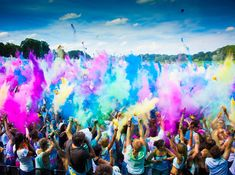 The beautiful festival of colours. One summer. Four Cities. colourful guests Who has been to Holi Festival? Holi Festival Of Colours, Holi Colors, Country House Wedding Venues, Best Wedding Venues, Wedding Locations, Holi Story, Holi Drawing, Glastonbury 2014, Irish Festival