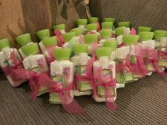 Bridal shower favors - maybe country chic or butterfly flower (cause their orange lol)