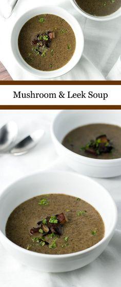 Warm and cozy mushroom and leek soup | girlgonegourmet.com