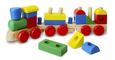 Melissa & Doug Stacking Train - Classic Wooden Toddler Toy pcs) Engine and two train cars stacked full with 15 colorful, wooden blocks. Practice color and shape recognition. Great for hand-eye coordination and imaginative play. x x Ages 2 years and up. Toys For Little Kids, Wooden Toys For Toddlers, Toddler Toys, Toys For Boys, Baby Toys, Kids Toys, Children Play, Toddler Gifts, Ideas