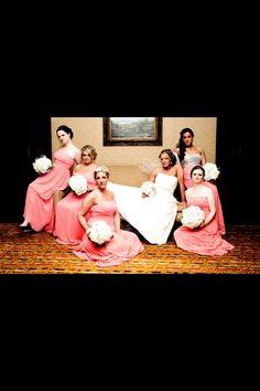 Bride and bridesmaids!! Vogue!!