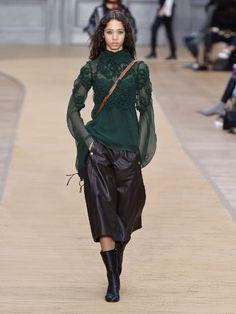 Floral-smocked silk-crepon blouse | Chloé | MATCHESFASHION.COM UK