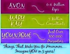 A little food for thought! Just imagine if you was a Younique Presenter now, where you will be in 5years time