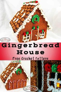 This Gingerbread House is a free crochet pattern that is held as a Christmas in July Crochet Along. It includes Wreaths, candy canes, gumdrops, icicles and snow. #freecrochetpattern #freepattern #freecrochet #ginerbreadhouse #crochetalong #christmasinjuly #christmas #christmaspattern #christmascrochet #crochetcandycanes Christmas In July, Christmas Crafts, Crochet Christmas, Christmas Angels, Christmas Stuff, Xmas, Christmas Bells, Christmas Ornaments, Christmas Christmas
