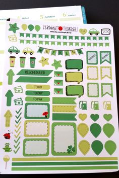 March, St. Patrick's Day, Organizing Stickers, Pastell, Fits Erin Condren and others, Kiss Cut, Life Planner Stickers, Scrapbook, Planner by LillyTop on Etsy