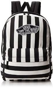 2b63e6a633c Vans Realm Womens Backpack One Size Black White Stripe Vans Backpack, White  Backpack, Stylish