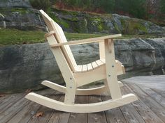 Grandpa Adirondack Chair Plans - DWG files for CNC machines Rocking Chair Plans, Adirondack Rocking Chair, Adirondack Chair Plans, Rocking Chairs, Woodworking Furniture Plans, Woodworking Projects, Patterned Chair, Beach Chairs, Long Legs