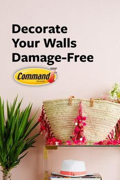 Display hats and bring a little style to your walls with Command™ Forever Classic Medium Hooks. No tools are needed! #DamageFree