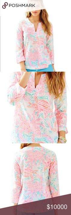 06c46fb0c42db9 NWT Lilly Pulitzer Amelia Island Tunic 🌟 Resort White Getting Steamy 🌟 Lilly  Pulitzer Tops Blouses