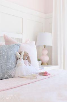 Toddler Girl's Pink Bedroom Sweet Pink and White Little Girl's Bedroom Little Girl Bedrooms, Bedroom For Girls Kids, Pink Bedrooms, Light Pink Girls Bedroom, Romantic Bedrooms, Girl Rooms, Pink Room, Baby Girls, Pink Bedroom Design