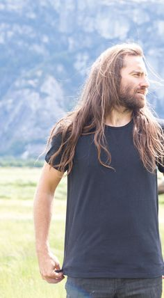 Chris Haslam. Long hair and beard and hotness and talent.