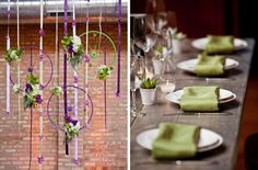 Idée originale pour la décoration mariage