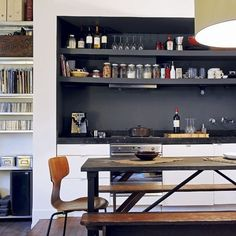 Contempory and great use of over hob space