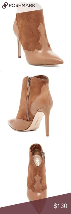 Sam Edelman Pointed Toe Heel Boots Sam Edelman Pointed Toe Heel Boots.  NWT.  Love these boots!  Fashionable and color you can wear year round!  Mix of leather and suede.  4 inch heel. Sam Edelman Shoes Heeled Boots