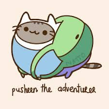 pusheen - Adventure time