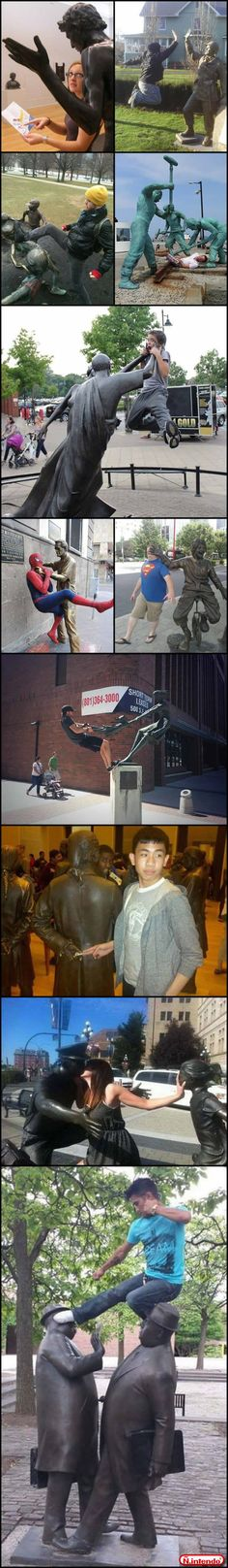 Pessoas VS Estátuas