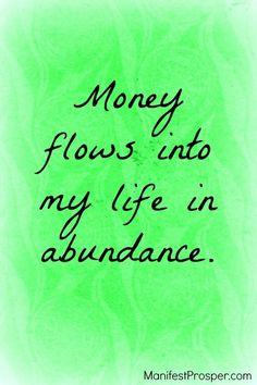 Money flows | Money Manifestation | law of attraction