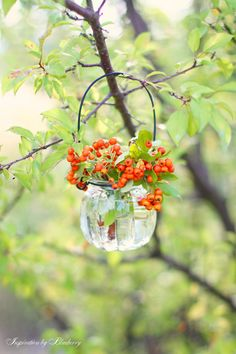 hang little vases of flowers instead of t lites!