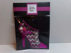 High Heel Shaped Tag with The Cutting Cafe Packaging