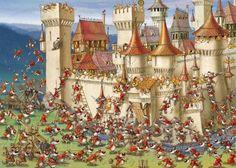 ¡Cómo molan los lobos en el castillo medieval de François Ruyer! Es un puzzle de 1000 piezas de la marca Heye que seguro causará sensación entre los más pequeños (y no tan pequeños) de la casa ;)