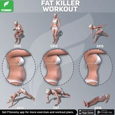 Fat Killer Workout for Full Body 💪🏻💪🏻Fitonomy - The Best Fitness App and SupplementsFat Killer Workout for Full Body 💪🏻💪🏻 Fitness Workouts, Fitness Herausforderungen, Physical Fitness, Training Workouts, Health Fitness, Killer Workouts, Belly Fat Workout, Butt Workout, Dumbbell Workout