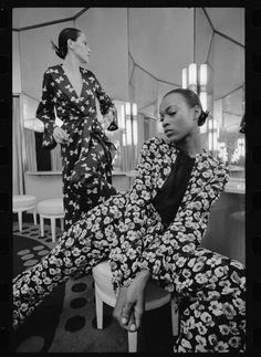 Naomi Sims wearing Halston, 1969.
