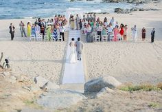 Outdoor beach ceremony |  Sara Richardson Photography | blog.theknot.com