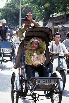 Saigon, green power, such a leisure way to travel and gaze.