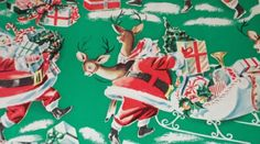 VTG CHRISTMAS WRAPPING PAPER