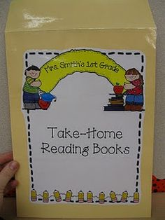 "Love this idea. as an update/ addition to my reading logs. Put reading log inside, assign books on their independent reading level. They can still check out library books for ""fun"" reading. Kindergarten Language Arts, Kindergarten Literacy, Classroom Activities, Classroom Ideas, Preschool, Classroom Images, Reading At Home, Guided Reading, Teaching Reading"