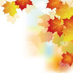 Autumn Beautiful leaves theme background vector 02 - Vector Background free download