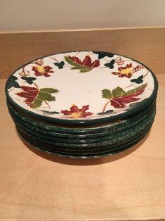 Poole Pottery New England side plate Leaf Pattern   | eBay