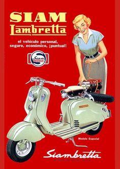 Lambretta Vintage Poster