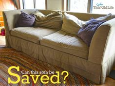Easy DIY Save for a Tired Old Sofa