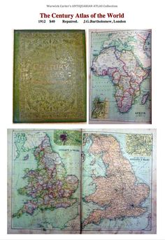 The Century Atlas of the World 1912 Vintage World Maps