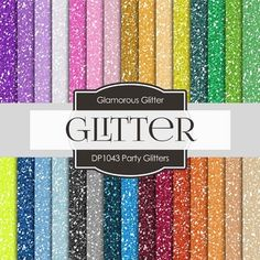 """❤ 30 pieces of paper PARTY GLITTER design  ❤ You will receive: 30 high quality 300 dpi 12"""" x 12"""" (3600x3600 px) JPEG files without watermarks  ❤ Digital files are for COMMERCIAL and PERSONAL use. 300 DPI great for printing! 30 pieces of digital paper"""